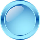 Blank glassy button — Stock Vector