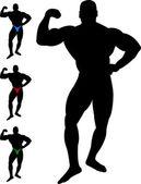 Bodybuilder silhouette — Stock Vector