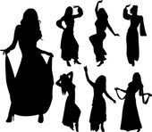 Belly dancers — Vector de stock