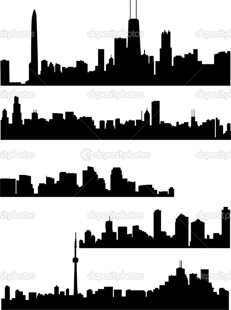Panorama cities - vector — Stock Vector #2287643