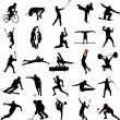 Sport silhouettes - Imagen vectorial