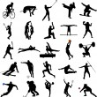 Sport silhouettes - Stockvectorbeeld