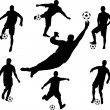 Soccer players silhouettes — Stock Vector #2339342