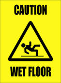 Caution - wet floor sign — Stock Vector