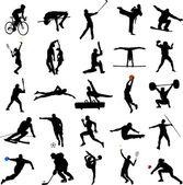 Sportovní siluety — Stock vektor