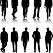 Stock Vector: Fashion men silhouettes