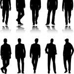 sagome di uomini moda — Vettoriale Stock