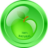 100 percent natural - vector — Stock Vector