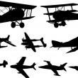 Airplanes silhouettes — Stock Vector #2545816