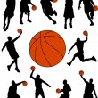 Basketball players silhouettes — Stock Vector #2545826