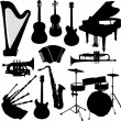 Musical instruments — Vector de stock #2548556