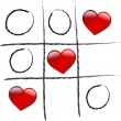 Love is winning game - Image vectorielle