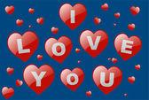 Valentine's hearts — Stock Vector