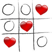 Láska vítězí hra — Stock vektor