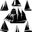 Sailing boats — Stock Vector