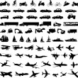 Transportation silhouettes - 