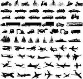 Transport-silhouetten — Stockvektor