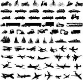 Transportation silhouettes — Stockvector