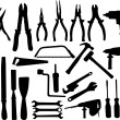 Royalty-Free Stock Vector Image: Tools silhouettes