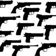 Guns silhouettes - Stock Vector