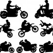 Stock Vector: Motorcyclists