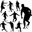 Soccer players silhouettes — Stock Vector #2578247