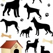 Royalty-Free Stock Vector Image: Dogs silhouettes
