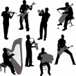 Musicians - Stock Vector