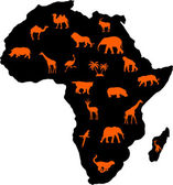 African animals — Stock Vector