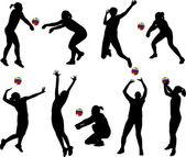 Joueurs de volley-ball — Vecteur