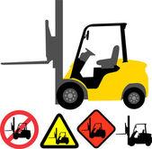 Forklift — Stock Vector