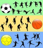 Esporte mix — Vetor de Stock