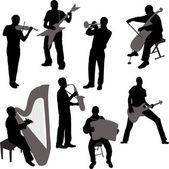 Musicians — Stock Vector