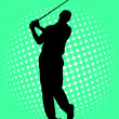 Golf player — Stock Vector