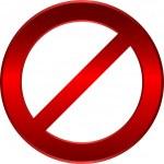 yasak işareti — Stok Vektör