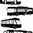 Buses collection - Stock Vector