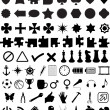 Royalty-Free Stock Vector Image: Set of various shapes and symbols