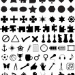 Set of various shapes and symbols — Stock Vector