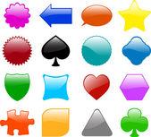 Glossy shapes — Stock Vector