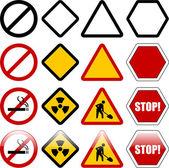 警告和限制标志的形状 — 图库矢量图片