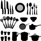 Kitchen elements — Stock Vector