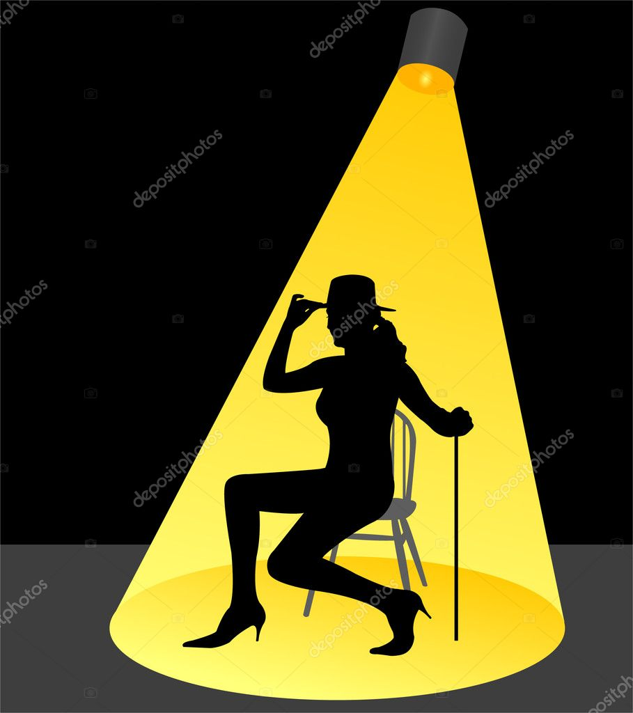 Cabaret girl - vector  Stock Vector #2615197