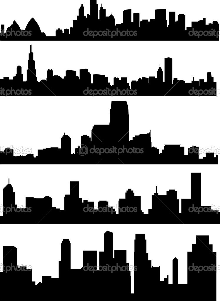 City skyline - vector — Stock Vector #2615312