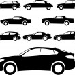 Stock Vector: Cars silhouettes
