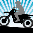 Motorcyclist — Stockvectorbeeld