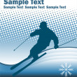 Skier on the abstract background - Stock Vector