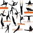 Royalty-Free Stock Vector Image: Gymnastics