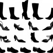 Stock Vector: Shoes collection