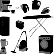 Domestic appliances set - Stock Vector