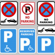 parking and no parking — Stock Vector